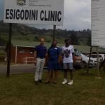 Pierre Buckley, Sister Amanda and Mfundo Ntombela  at the Esigodini Clinic.